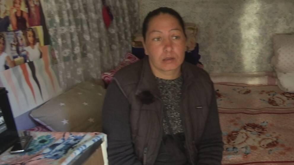Vica Feraru har bott i husvagnen med sin man från och till i flera år.