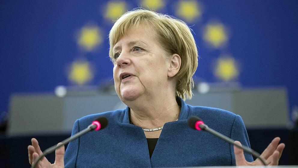 Förbundskansler Angela Merkel talade sig varm för sammanhållning och solidaritet inom den europeiska unionen.