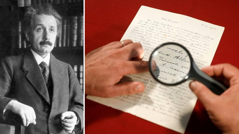 Fysikern Albert Einsteins handskrivna brev till sin syster såldes på auktion i Jerusalem, Israel.