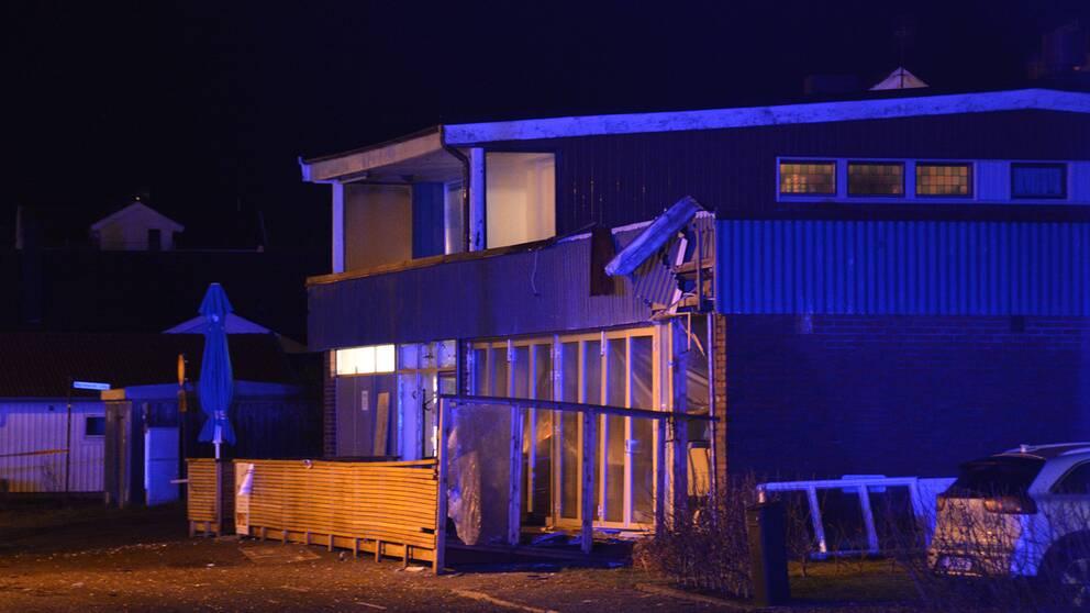 Explosionen inträffade i Ellös på Orust, mitt i natten