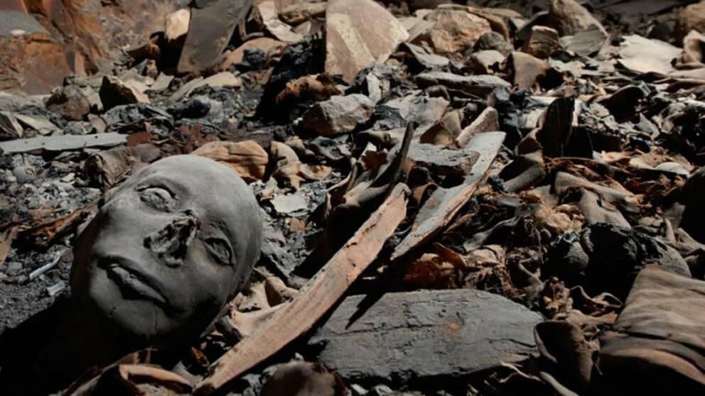 Den forntida graven har plundrats flera gånger.