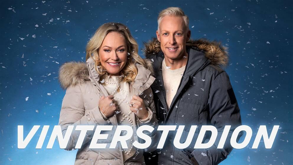 Programledare Yvette Hermundstad och André Pops.