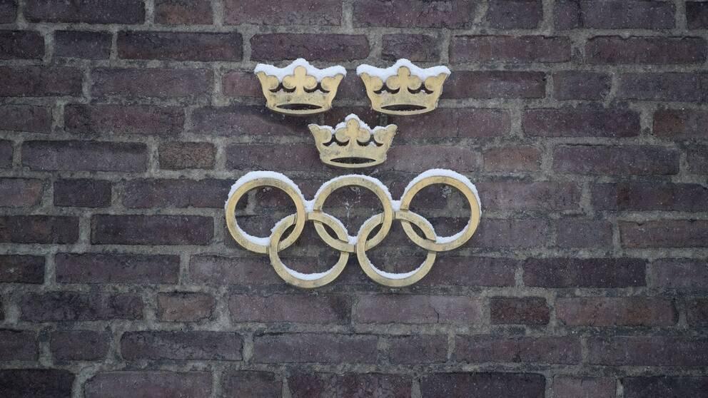 OS-ringarna på fasaden till SOK:s kontor.
