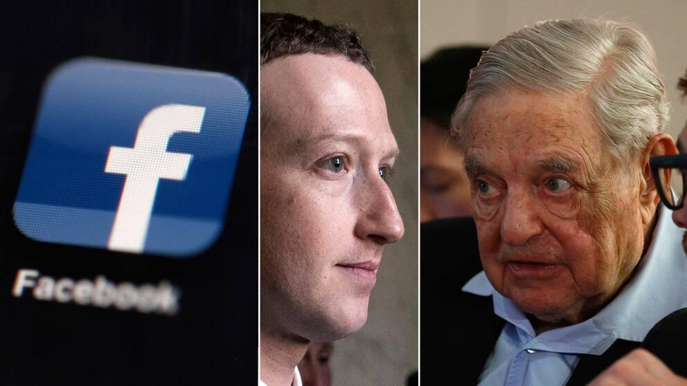 Facebooks grundare Mark Zuckerberg och finansmannen George Soros.