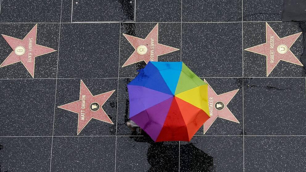 Snart invigs den brittiska motsvarigheten till USA:s Hollywood Walk of Fame. Arkivbild.