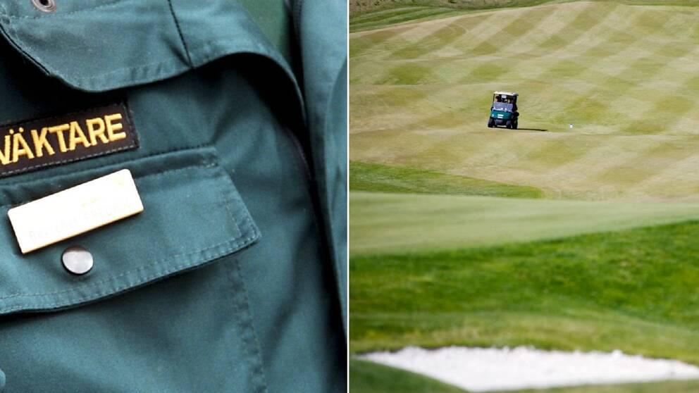 Tva skadade i golfbilsolycka