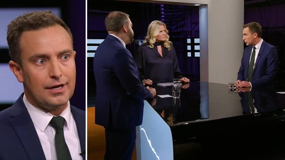 Tomas Tobé, rättspolitisk talesperson för Moderaterna gästade SVT:s Agenda på söndagen.