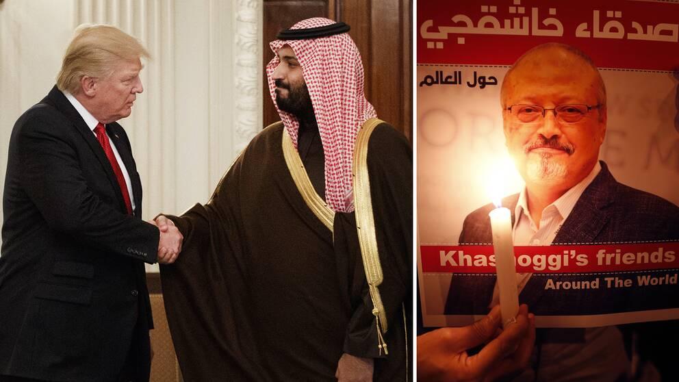 USA:s president Donald Trump och Saudiarabiens försvarsminister, kronprins Mohammed bin Salman, har pratat flera gånger om fallet med journalisten Jamal Khashoggi, enligt Trump
