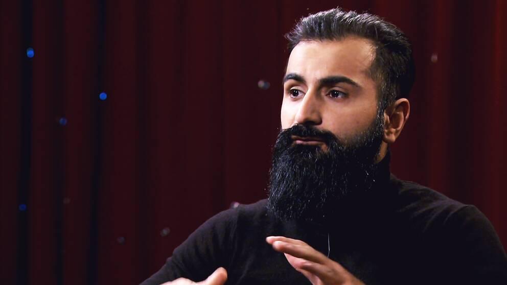 Hanif Bali (M) intervjuas av Anna Hedenmo i SVT:s Min sanning.