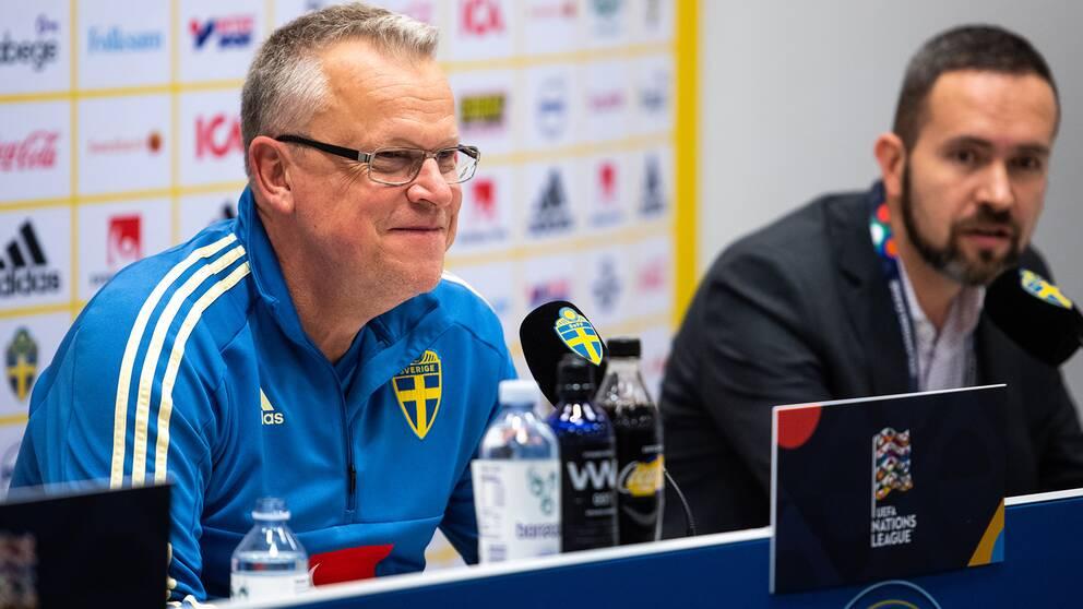Janne Andersson och Sverige besegrade Ryssland med 2-0.
