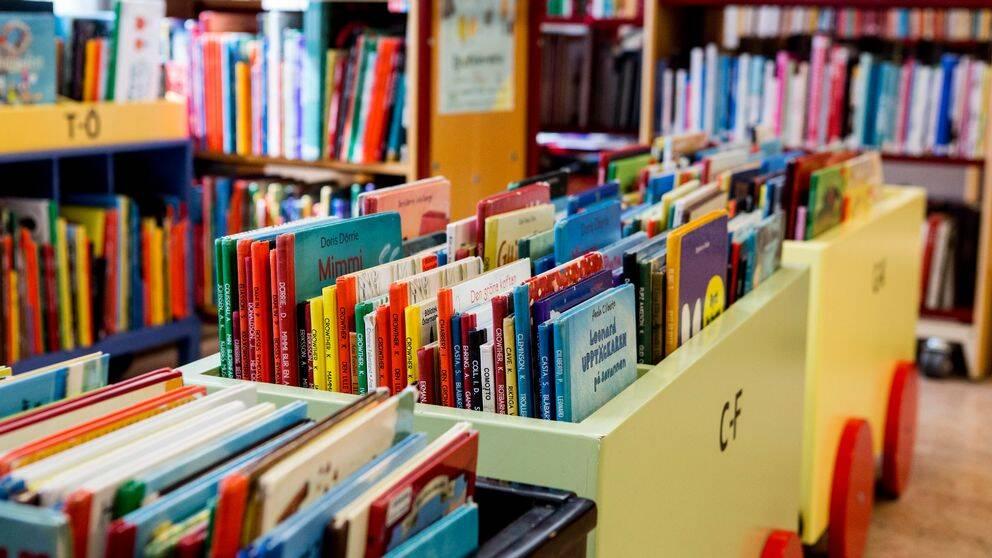 Barnavdelningen på ett bibliotek.