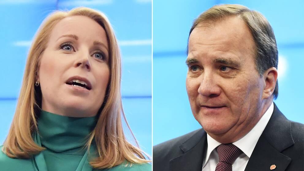 Annie Lööf och Stefan Löfven.