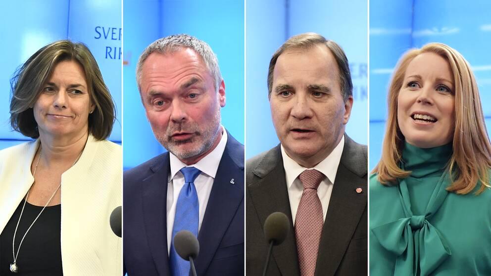Lövin, Björklund, Löfven och Lööf