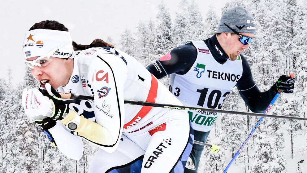 Charlotte Kalla och Calle Halfvarsson.