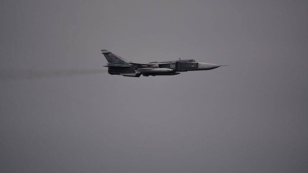 Ryskt Su-24 stridsflygplan i södra Östersjön den 21 november 2018.