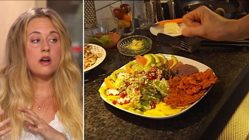 Therese Elgquist, växtbaserad matkreatör, förklarar för SVT:s Morgonstudion vilka myter det finns med att äta enbart grön kost.