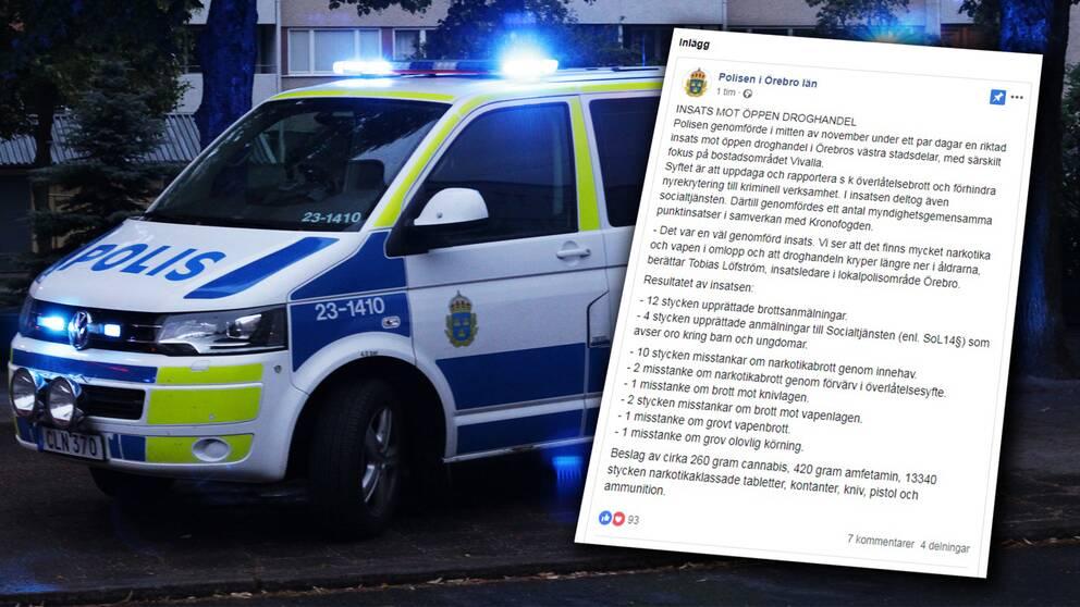 polis, insats, facebook