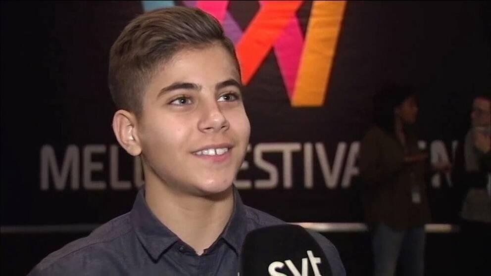 15 årige Bishara från Linköping tävlar i Mello | SVT Nyheter