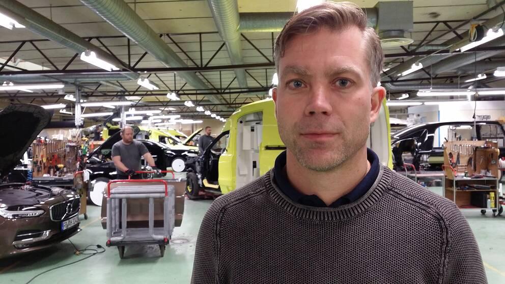 Fredrik Nilsson, vd på Nilsson special vehicles i Laholms kommun.