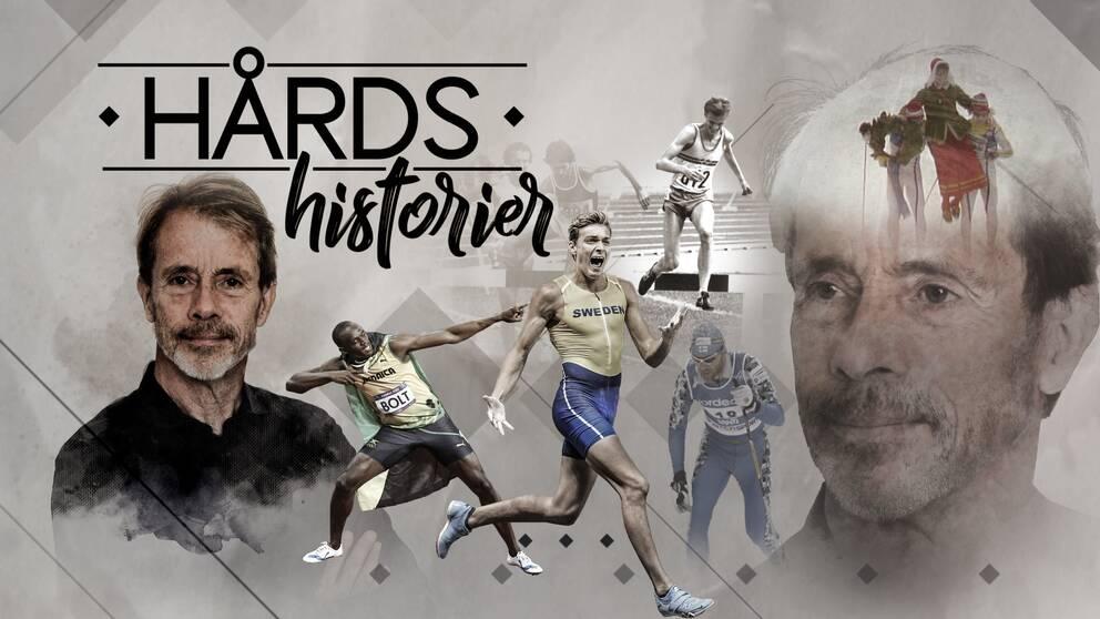 Jacob Hård, Usain Bolt, Armand Duplantis, Anders Gärderud och bröderna Blomquist.