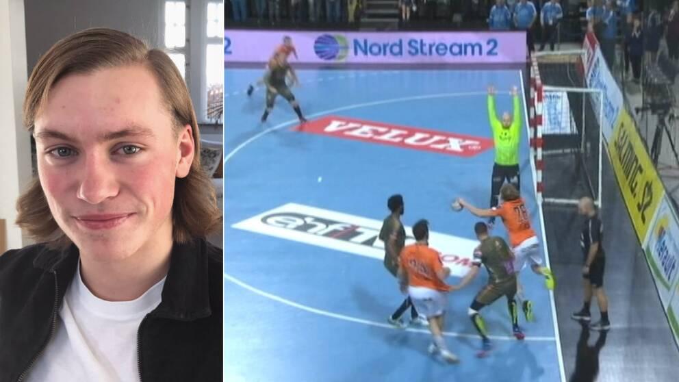Valter Chrintz berättar om sitt drömmål för Kristianstad i Champions League.