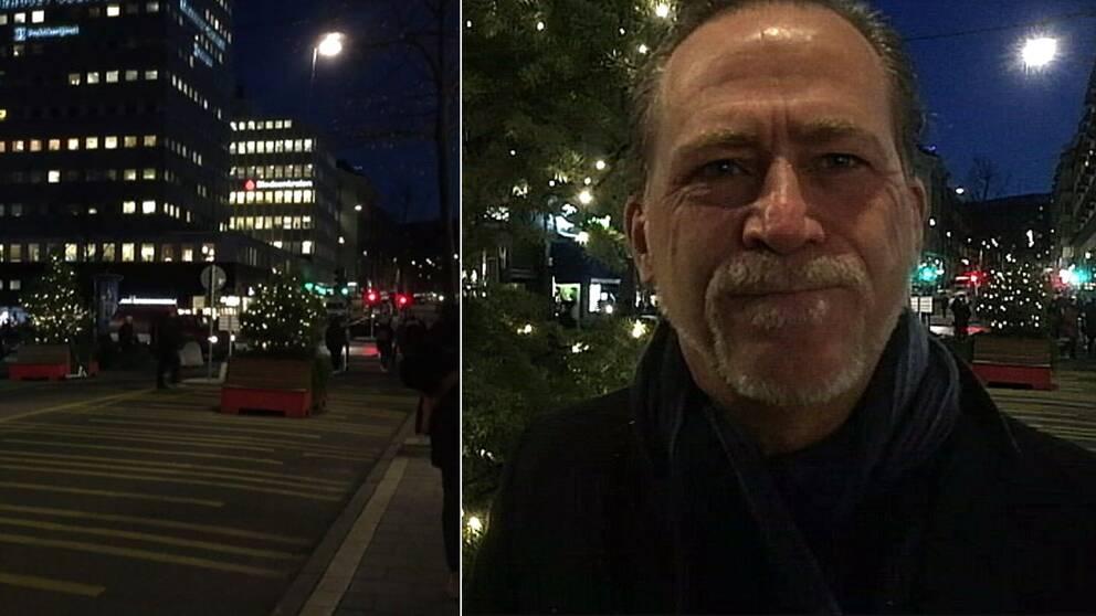 Daniel Helldén och Norrtullsgatan, vintergågata