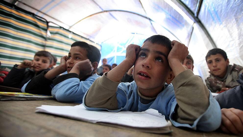 Arkivbild. Flyktingläger i provinsen Aleppo i norra Syrien.