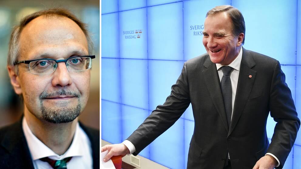 Ulf Bjereld och Stefan Löfven.