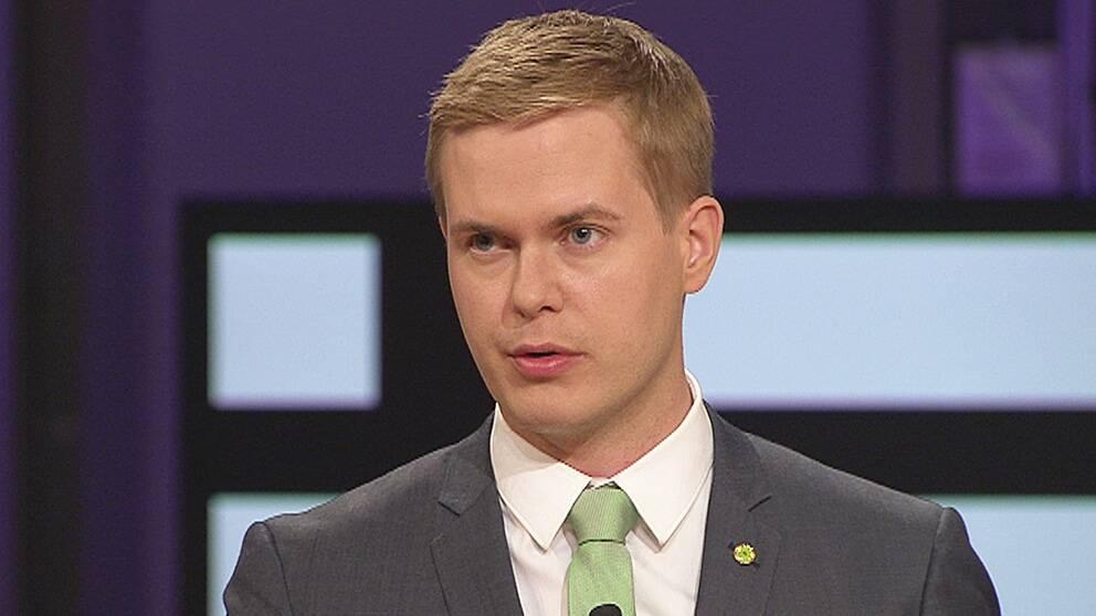 Gustav Fridolin (MP) i SVT:s partiledardebatt.