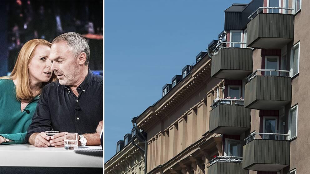 Annie Lööf och Jan Björklund samt bostäder