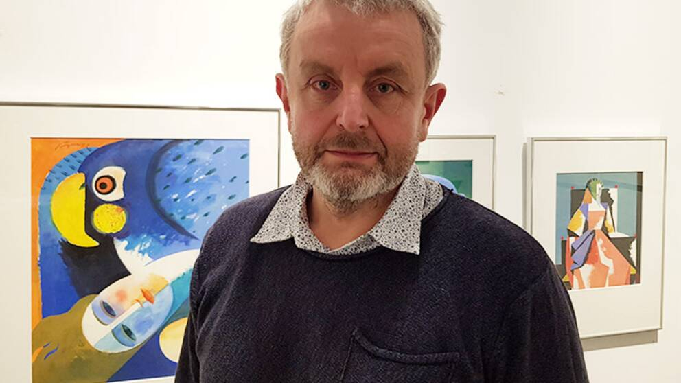Vännen och galleristen Ulf Carlson arbetade med Åke Arenhill i över 20 år.