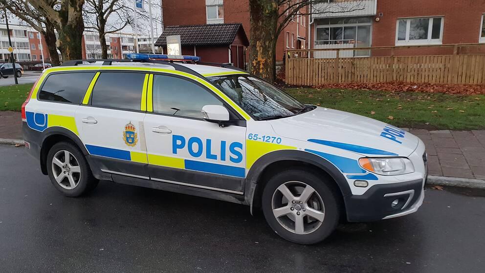Polisen på plats på Hermodsdal i Malmö.
