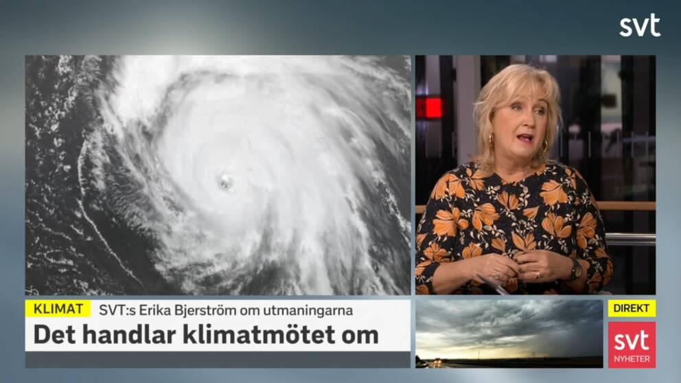 SVT:s Erika Bjerström om utmaningarna kring klimatet.