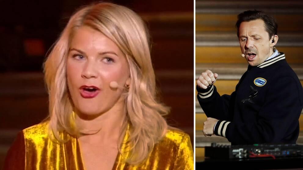 Ada Hegerberg, historisk binnare av Ballon d'Or, fick frågan om hon kan twerka av DJ:n Martin Solveig på den franska fotbollsgalan under måndagen.