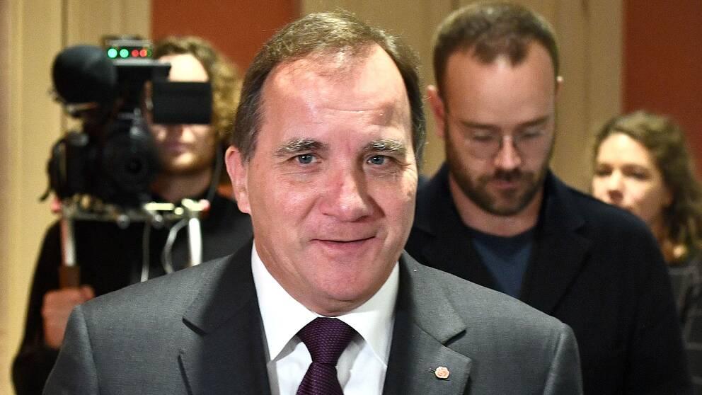 S-ledaren Stefan Löfven