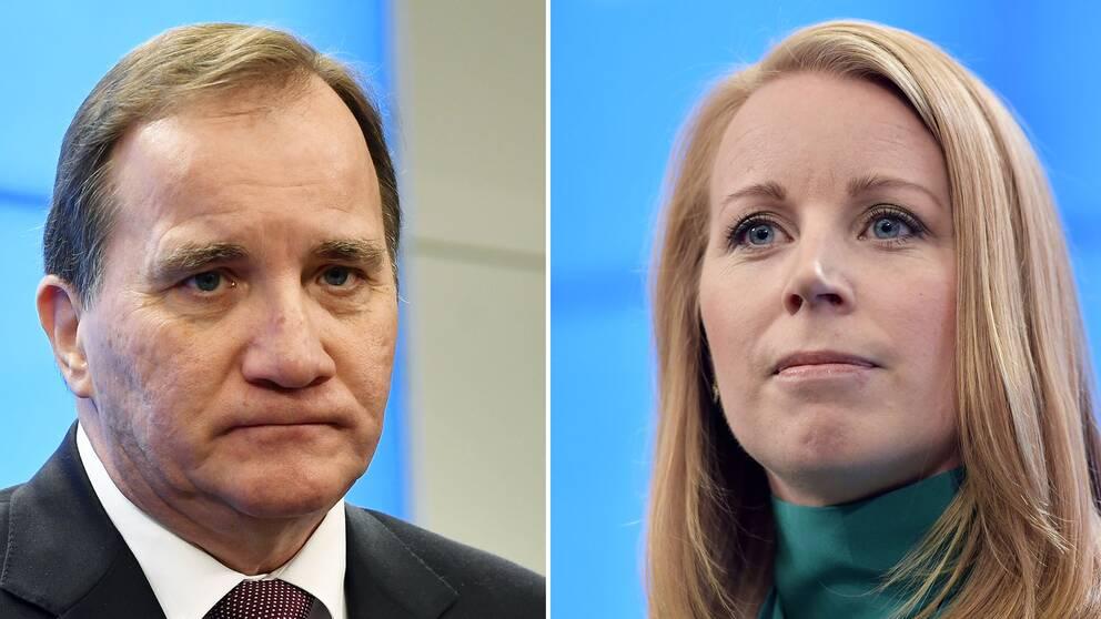 Stefan Löfven ska presentera resultatet av förhandlingarna för talman Andreas Norlén nästa måndag. På bilden syns Stefan Löfven och Annie Lööf.