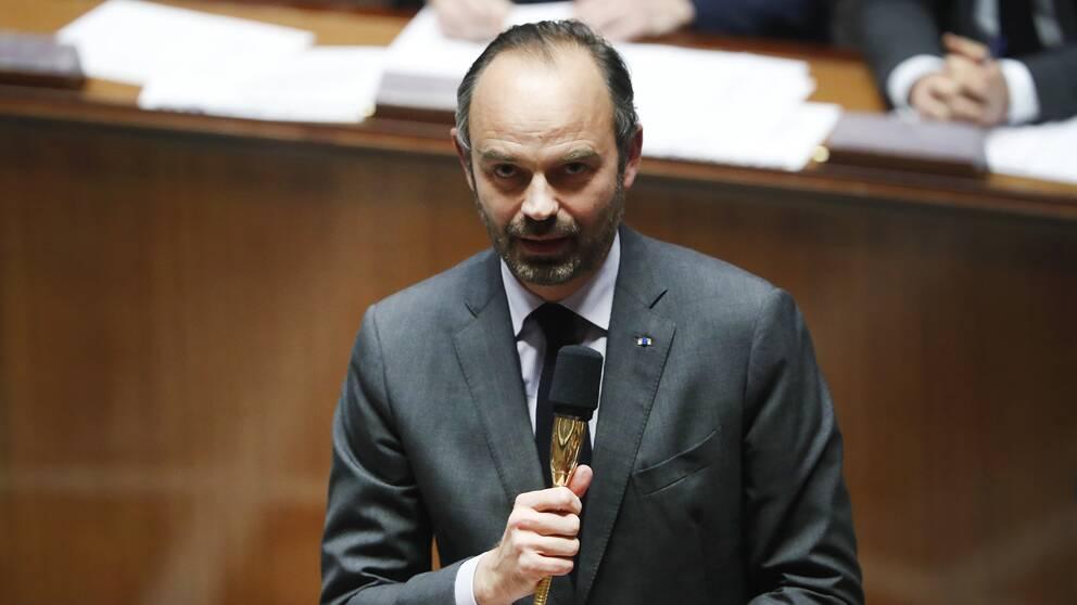 Frankrikes premiärminister Édouard Philippe svarade under tisdagen på frågor i Nationalförslamlingen i Paris