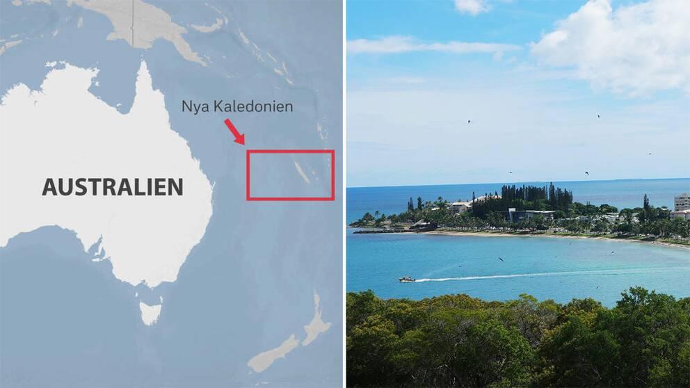 Karta över Nya Kaledonien