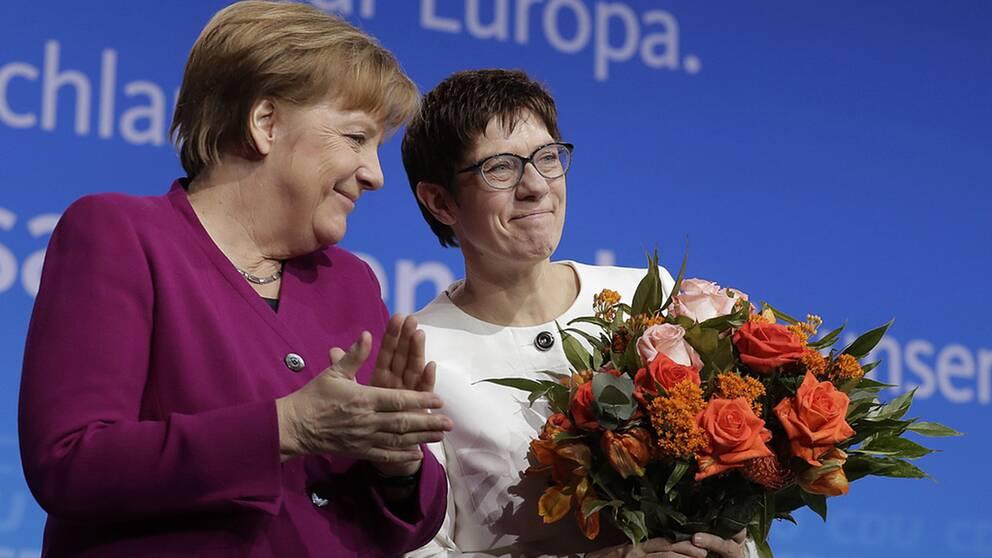 Annegret Kramp-Karrenbauer utsågs av Angela Merkel till CDU:s partisekreterare i februari 2018.