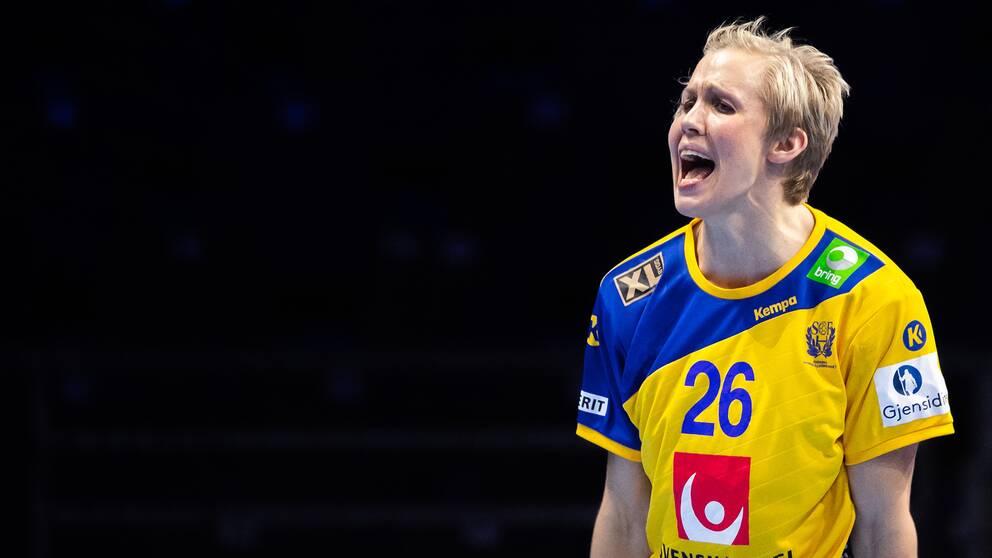 Elin Hallagård anslöt till det svenska laget i torsdags.