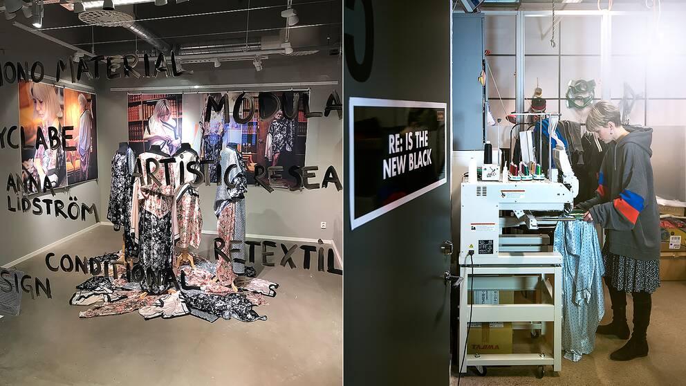 Projekt om hållbar textil på Textilhögskolan i Borås.