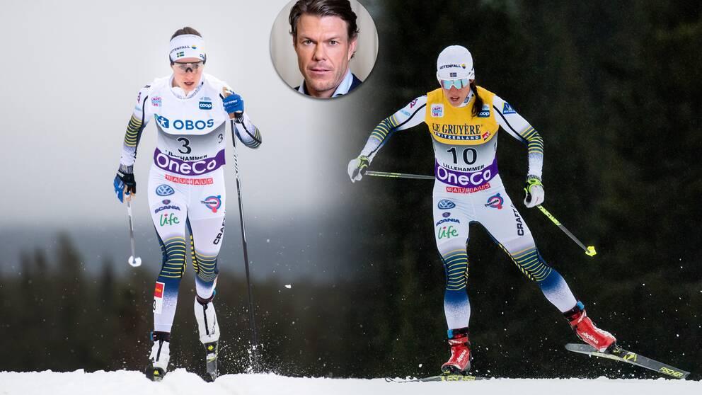 Ebba Andersson, Charlotte Kalla och Mathias Fredriksson.