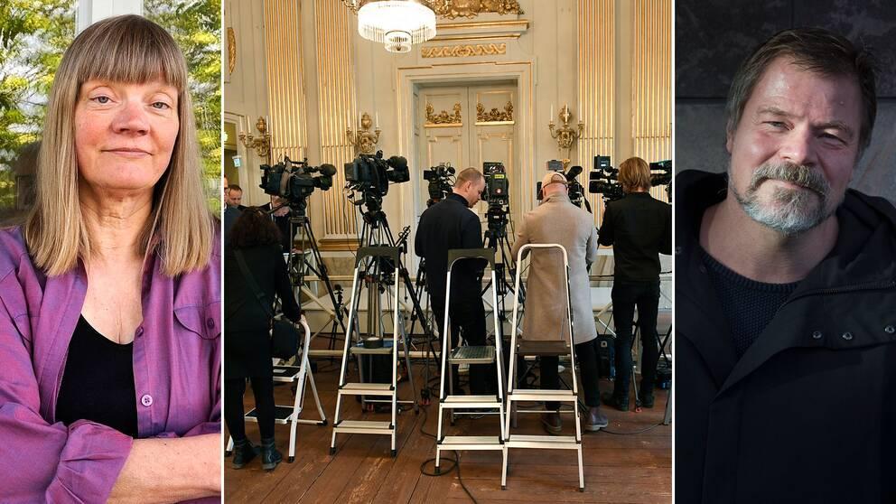 Gun-Britt Sundström och Kristoffer Leandoer är två av medlemmarna i den nybildade Nobel-kommittén.