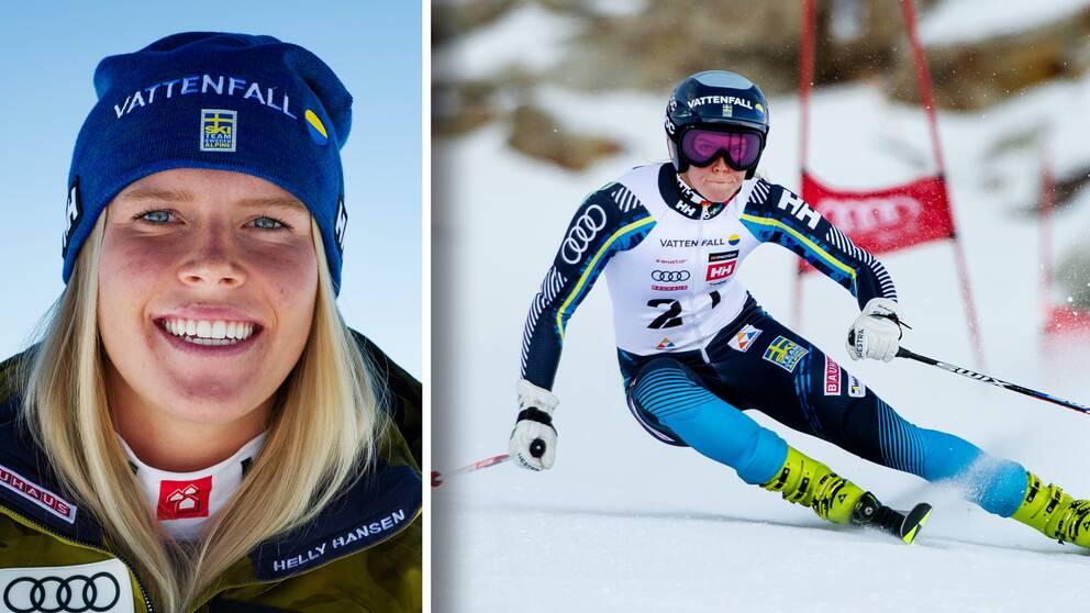 Höga Kustens Lisa Hörnblad slog till vid dagens Super-G i Sankt Moritz.