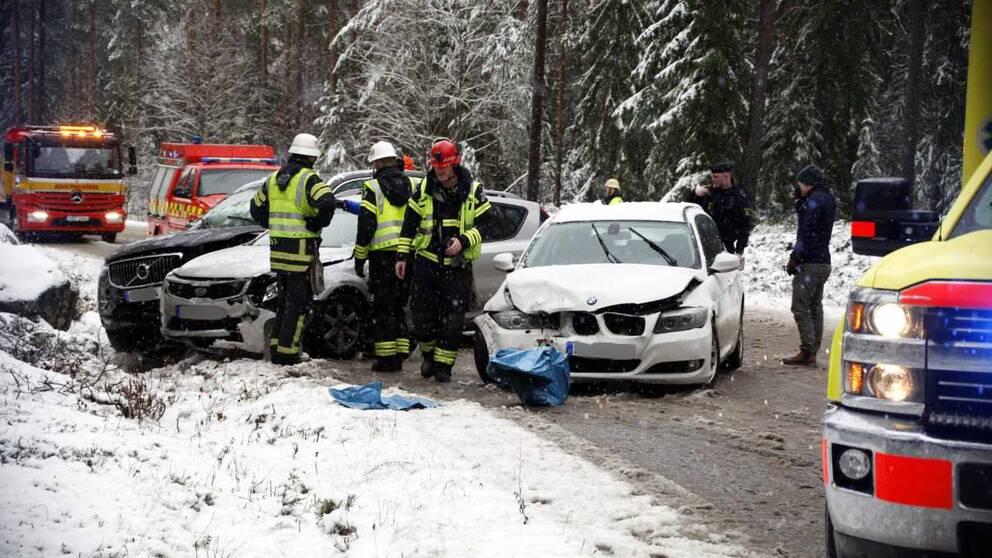 Over 40 trafikolyckor under dagen