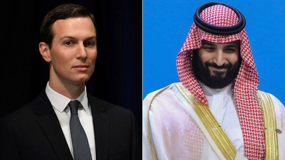 Donald Trumps rådgivare och svärson Jared Kushner och Saudiarabiens kronprins Mohammed bin Salman