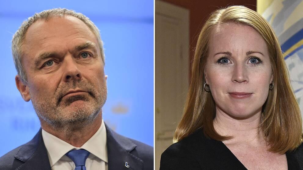 Liberalernas partiledare Jan Björklund och Centerledaren Annie Lööf.