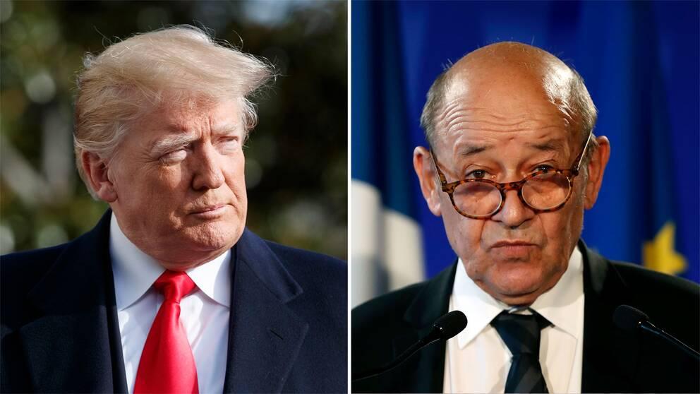 Donald Trump och Jean-Yves Le Drian