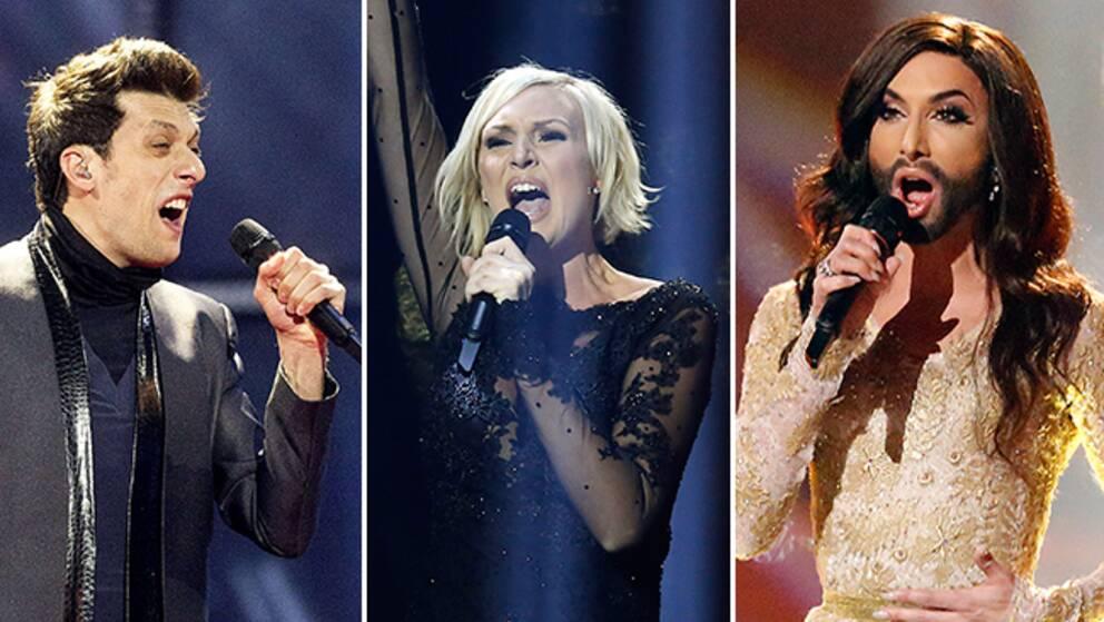 Aram MP3 (Armenien), Sanna Nielsen (Sverige) och Conchita Wurst (Österrike) är vinnartippade.