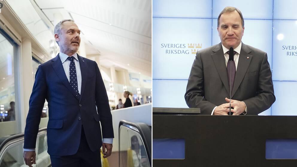 Liberalernas partiledare Jan Björklund och Socialdemokraternas Stefan Löfven.